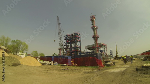 Oil Refinery Under Construction