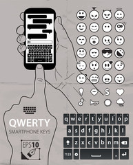 qwerty smartphone keys