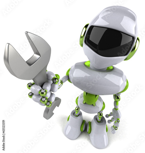 canvas print picture Green robot