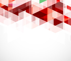 Modern red geometrical abstract template, vector illustration