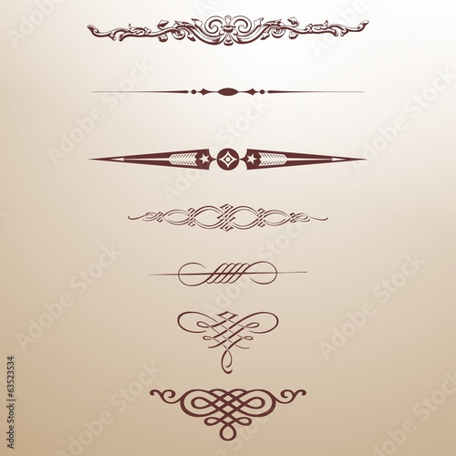 decorative arrows frame Dekorrahmen Pfeile