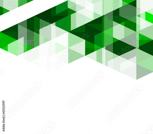 Modern green geometrical abstract template, vector illustration