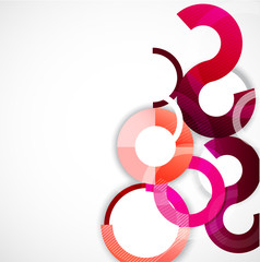 Rings geometric shapes abstract background, vector illustration