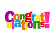 """CONGRATULATIONS!"" Letter Collage (card well done achievement)"