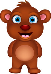 cute brown bear cartoon