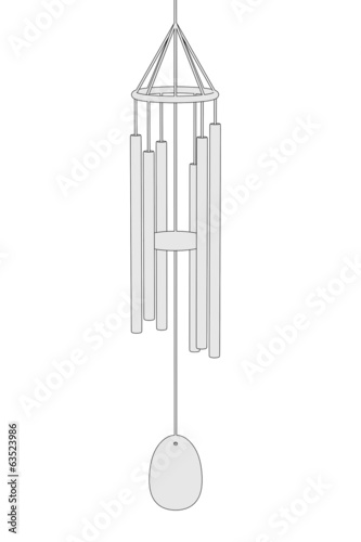 cartoon image of wind chimes