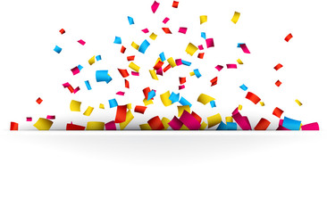 Confetti celebration background.