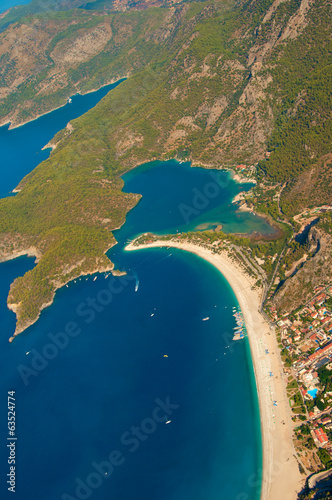 Panoramic bird's-eye view on Turkey, Oludeniz, Mediterranean