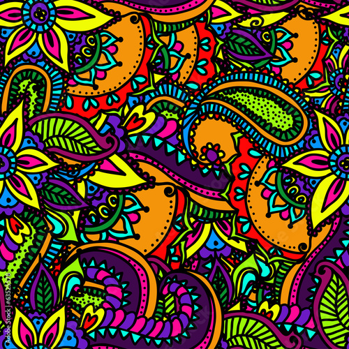 Floral seamless pattern. Vector illustration.