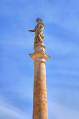 Obelisk of St. Rocco. Montescaglioso. Basilicata. Italy.