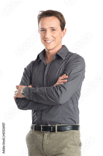 Young Man With Arm Crossed