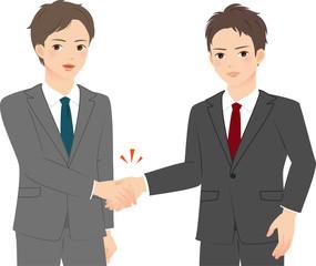 握手する2人のスーツの男性