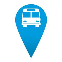 Icono localizacion simbolo autobus