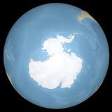 Mondo terra globo Antartide continente, mappa in rilievo