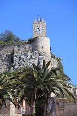 Modica, castello dei Conti, torre con l'orologio.