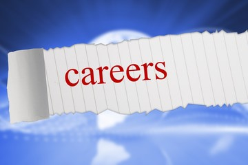 Careers against global technology background