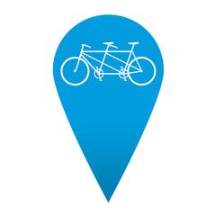 Icono localizacion simbolo tandem