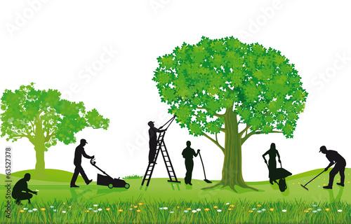 Gartenarbeiten Pflanzen und Beschneiden - 63527378