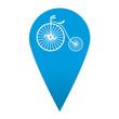 Icono localizacion simbolo velocipedo