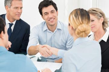 Businesspeople Doing Handshake
