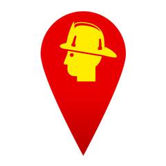 Icono localizacion simbolo bombero