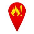 Icono localizacion simbolo incendio