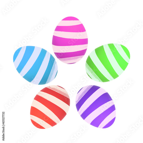 Colorful Easter egg isolated on white