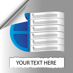 Papers Infographics Vector Illustration.