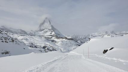 Zermatt, Winter, Winterwanderung, Riffelberg, Alpen, Schweiz
