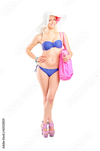 Young woman in bikini