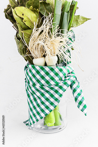 leeks and green