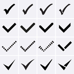 Confirm icons. Vector