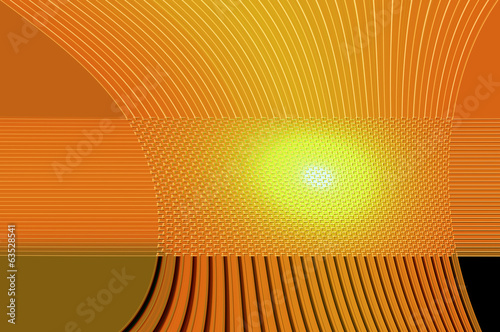 Geometry grace - in orange. Abstract background.