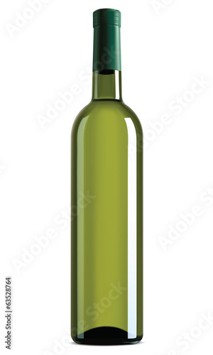 Wine bottle isolated. Vector illustration