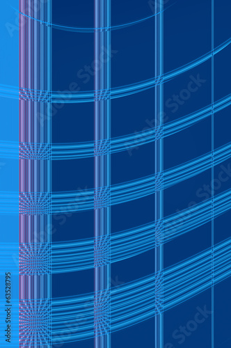 Geometry grace - in azure. Abstract background.