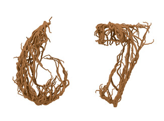 Six and seven vegetal numbers
