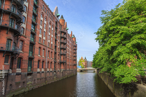 speicherstadt the old town of Hamburg, Germany