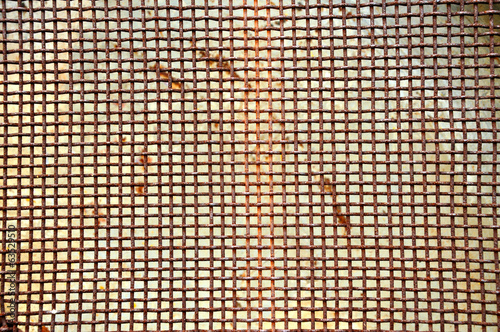 Rusty grid iron screen