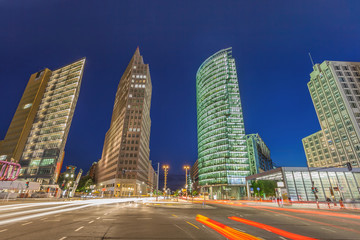 street view of Potsdamer Platz, Berlin, Germany