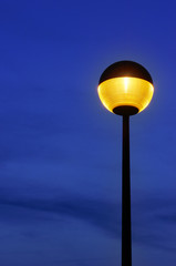 lamppost at twilight