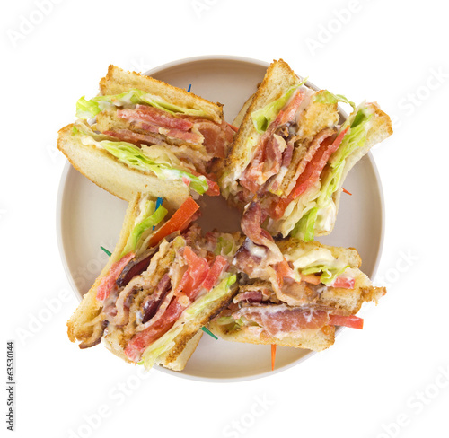 BLT On Dish Top