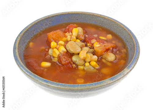 Triple Succotash In Bowl Side View