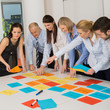 Business Team Brainstorming Using Color Labels