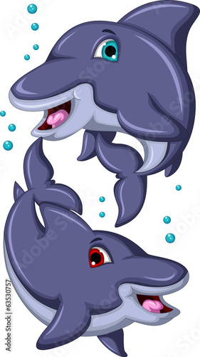 cute Cartoon Dolphins