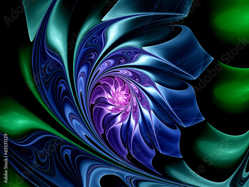 Colorful fractal flower
