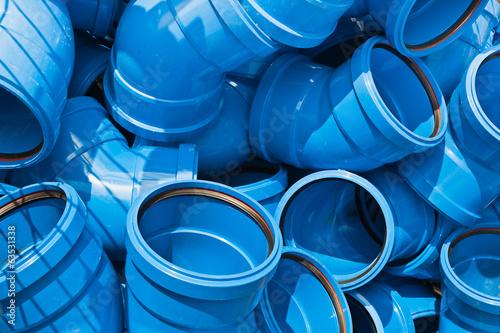 Rohr-Bögen aus blauem Kunststoff - HS-Rohr - 63531338