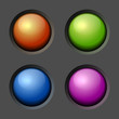 Design elements. Color Buttons and Bulbs. Vector