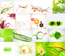 Nature green abstract backgrounds mega collection