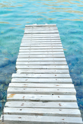 Old wooden dock