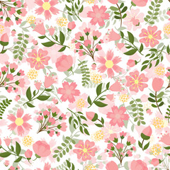 Seamless spring floral background